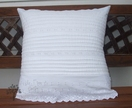 'White Shabby Chic' Cushion Cover
