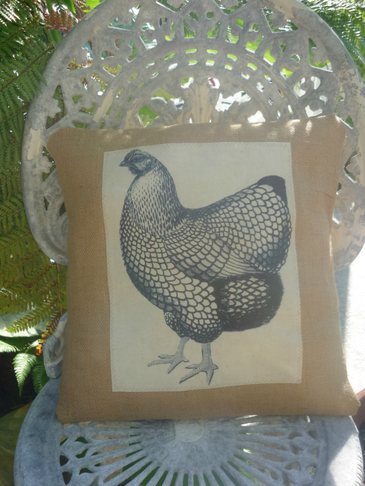 how to make a chicken cushion
