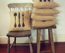 ANTIQUE CUTLERY CUSHION COVER