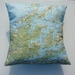 NZ Map Cushion Cover - Marlborough Sounds