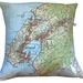 NZ Map Cushion Cover - Wellington