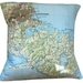 NZ Map Cushion Cover - Christchurch