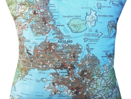 NZ Map Cushion Cover - Auckland