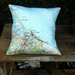 Tauranga - Map cushion cover
