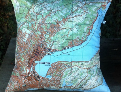 NZ Map Cushion Cover - Dunedin