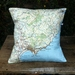 NZ Map Cushion Cover - Gisborne
