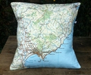 NZ Map Cushion Cover - Gisbourne
