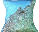 NZ Map Cushion Cover - Nelson City