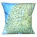NZ Map Cushion Cover - Vintage Fjordland