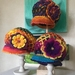 **Double Layer Crochet Hat With Flower**