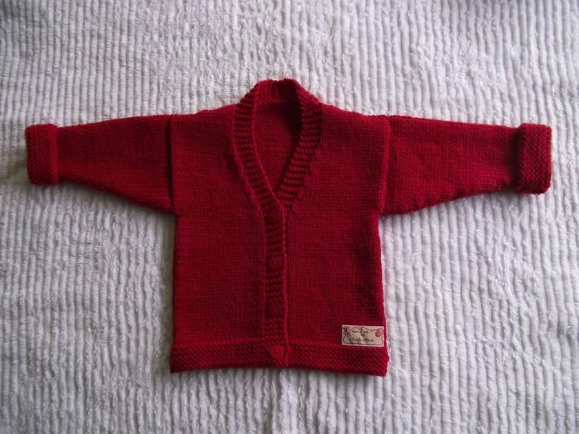 Baby's Little Red Jacket - 100% Merino Wool