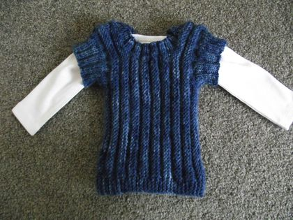 Royal Blue Tones Baby Pullover Top