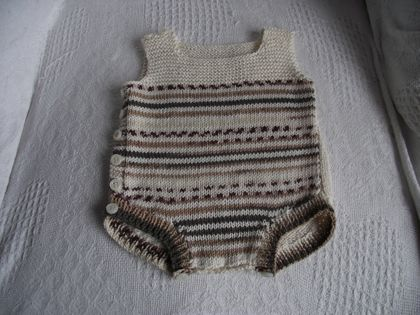 Baby Onesie With Pattern Front
