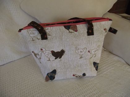 Chicken Print Project Bag