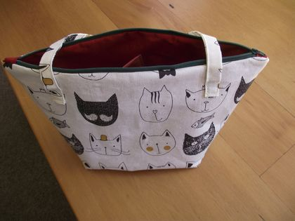 Kitty Print Project Bag