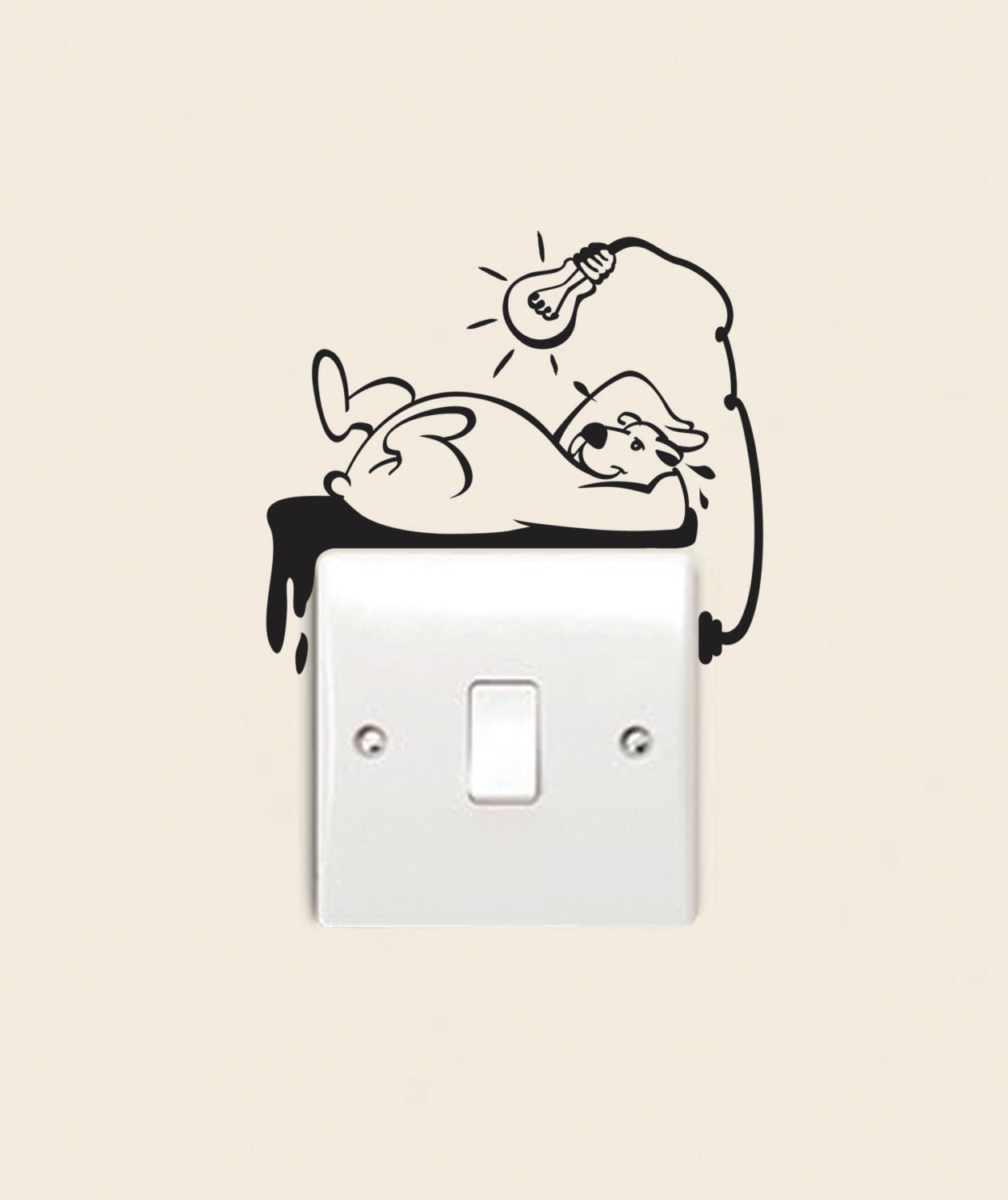 Wall Light With Switch Nz : Polar Bear -Think Eco Decal Sticker for Wall Light Switch and oder. Felt