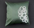 Original Moki Cushion in Khaki with White Organic Circles print