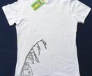 Moki Organic T-Shirt with grey Flax Flower print