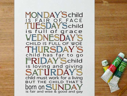 Nursery Art Monday S Child Is Full Of Grace Felt