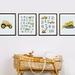 Nursery alphabet truck print set