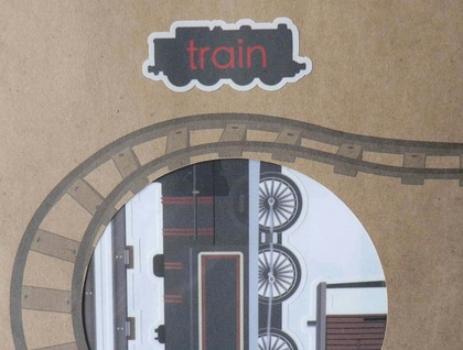 Children wall decals Trains