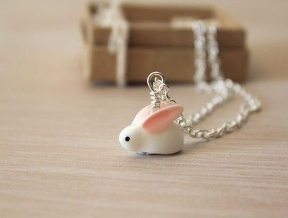 Sweet Snow Bunny Necklace