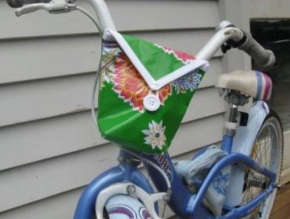 ALONG FOR THE RIDE - BIKE BAG IN OILCLOTH