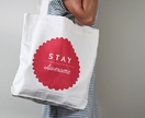 Stay Awesome - Screen printed - 100% cotton tote bag - Everyday bag