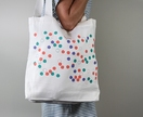 Confetti - Screen printed - 100% cotton tote bag - Everyday bag