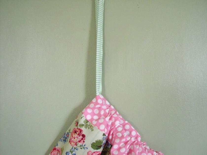 Fabric Laundry Hamper Nz: Shabby Chic Green Rose Laundry Bag