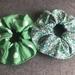 Set of two Green theme Scrunchies