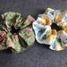 Set of two vintage garden theme Scrunchies