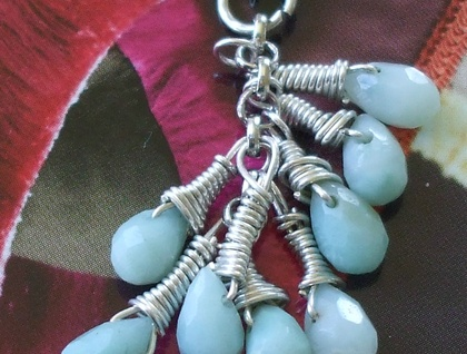 Amazonite Cluster Necklace