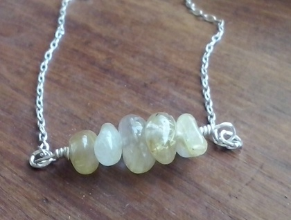 Golden Rutilated Quartz Necklace
