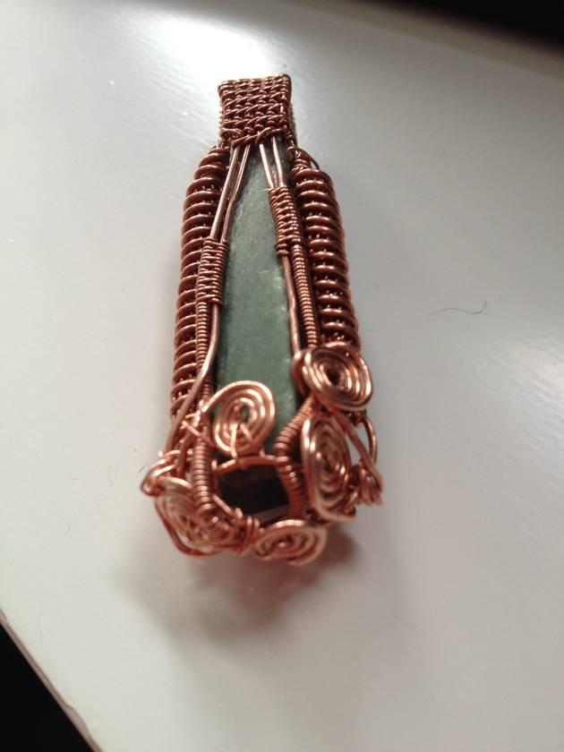 Wire Woven Pounamu Pendant