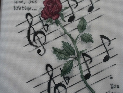 Electic guitar cross stitch pattern.
