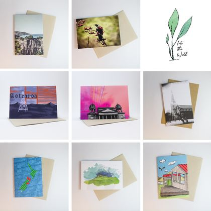 New Zealand Themed Greeting Cards - 8 Designs