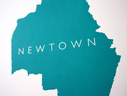 Newtown - A3 12x16 Graphic Print by Graham Howe