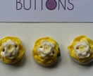 Yellow Rose 3 pc Button Set