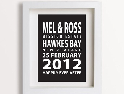 Personalised Wedding Anniversary Gifts Nz : Personalised Wedding Anniversary Print - Subway/London Bus Blind ...
