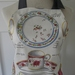 Tea For Two ...... An Apron with a little High Tea influence - Full - Tea Cups and Saucers - Pleated Frill - Cream - Grey
