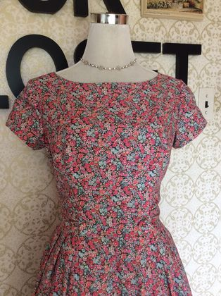 Liberty's Floral Delicacy - Vintage Inspired 1960s dress-Made in New Zealand-Wedding-Bridesmaid-Speacial Occassion-Sundress