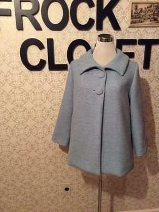 China Blue - Vintage Inspired 1950s Coat - Autumn -Winter - New Zealand