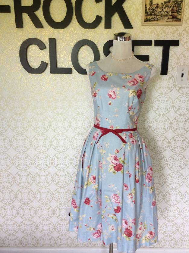 Spring Bloom - Vintage Inspired - 1950s Dress - Sample - Made in New Zealand - Wedding - Party - Graduation - Bridesmaid