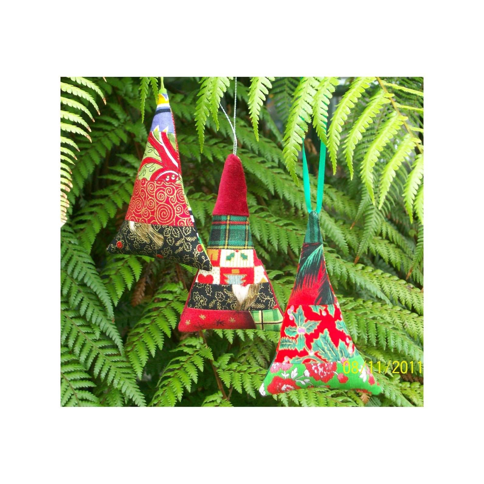 Patchwork Christmas Tree Decoration Felt