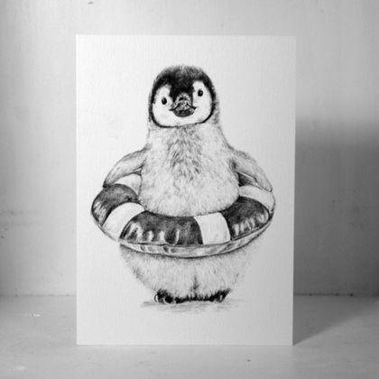 Baby Penguin Gift Card