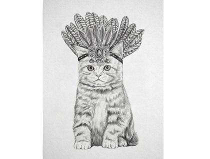 Miss Kitty Digital Art Print