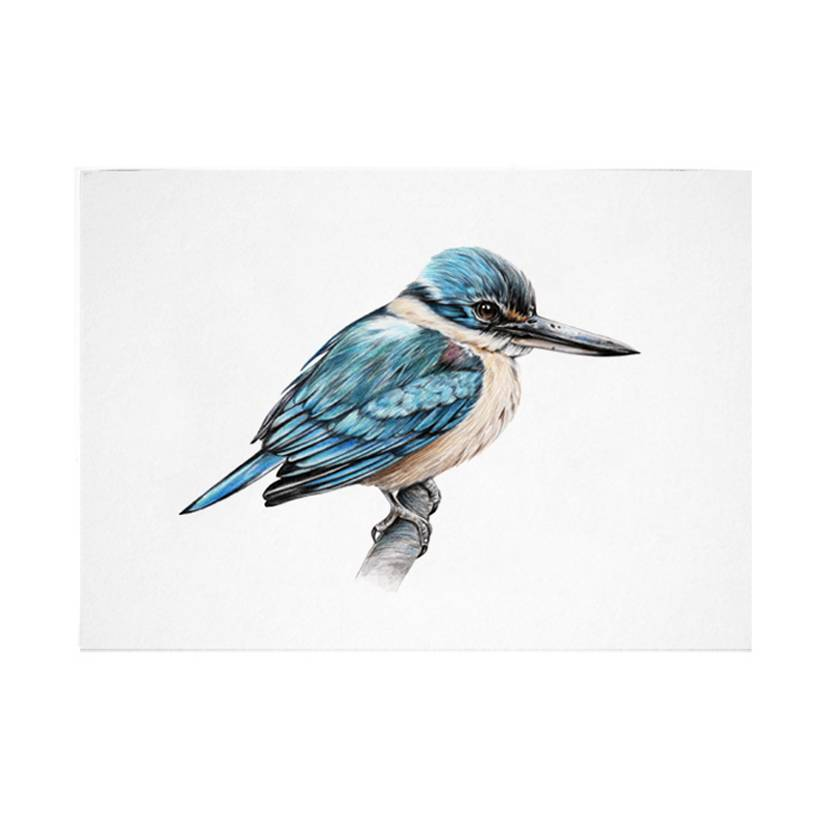 Kingfisher A5 Archival Art Print