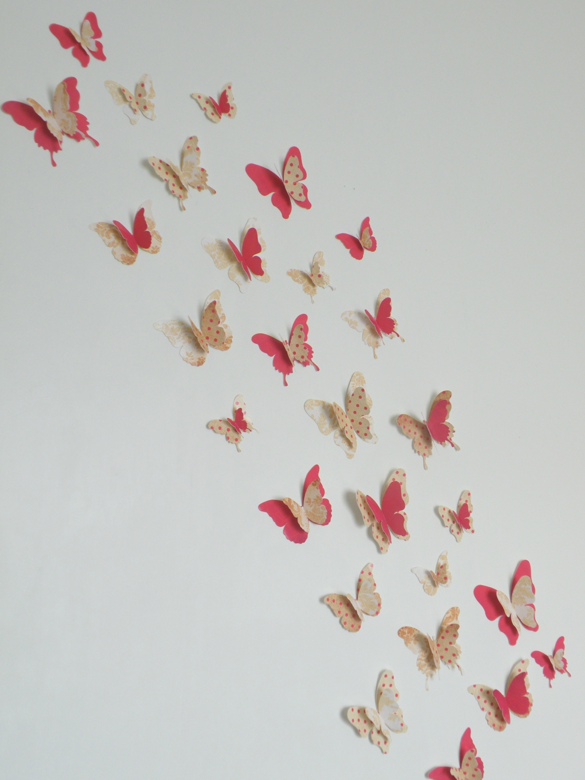 3d butterfly wall decor christmasred set felt for 3d butterfly decoration