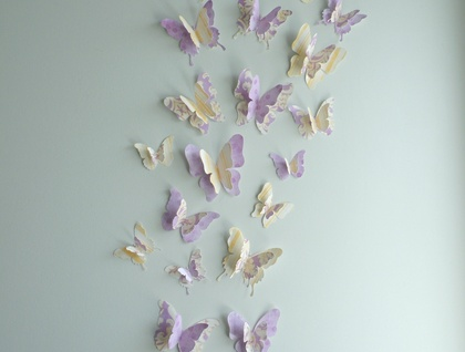 "3D Butterfly Wall Decor ""Stella"" Set"